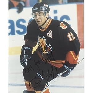 Jarome Iginla Autographed Calgary Flames (Black Jersey) 8x10 Photo