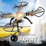 Cewaal X8HW Wifi FPV Drone With 2.0MP HD Camera + SD Card,One Key to Return; Headless Mode,3D Flips,2000mAh Battery Long
