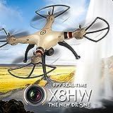 Cewaal X8HW Wifi FPV Drone With 2.0MP HD Camera + SD Card,One Key to Return; Headless Mode,3D Flips,2000mAh Battery Long