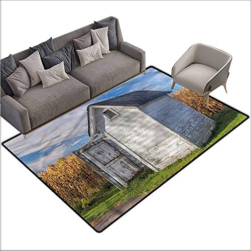 (Bath Mat Set Kitchen Door Outhouse,Country Cottage Wheat 60