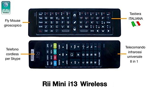 46 opinioni per Riitek Rii Mini i13 (layout ITALIANO)- Mini tastiera wireless con mouse