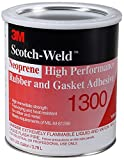 3M 1300 Yellow Neoprene High Performance Rubber and Gasket Adhesive, 1 Gallon