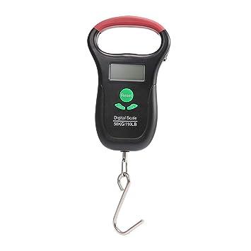 AOLVO - Báscula Digital con Pantalla LCD electrónica de 50 kg de Peso máximo, con función de visualización de termómetro y Cinta métrica: Amazon.es: Hogar