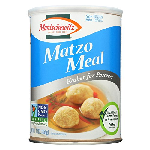 (Manischewitz Matzo Meal Kosher For Passover Canister, 16 Ounce )