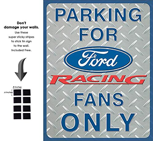 Shop72 - Tin Sign Ford Racing Parking Vintage Tin Sign Retro Metal Sign