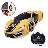 Wall Climbing Car Toy for Boys Girls, Rechargeable Remote Control Wall Climber Car Toy Gift ,| Defy Gravity | Transforming Robot,360° Drifting RC Cars for Kids Front Rear LED Lights,Birthday Birthday