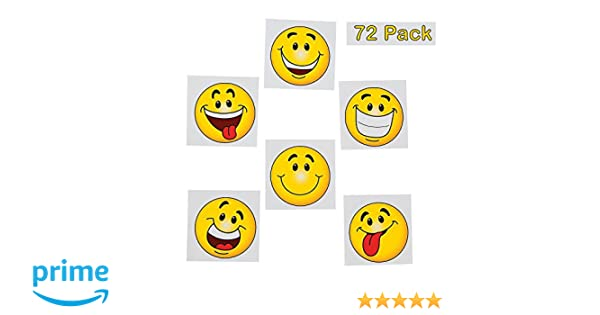 e9d2a78d2 Emoji Tattoos - Pack Of 36 - 2 Inches Assorted Goofy Smiley Face Cool  Emoticon Face Tattoo - For Kids - Great Party Favors, Bag Stuffers, Fun,  Gift, ...