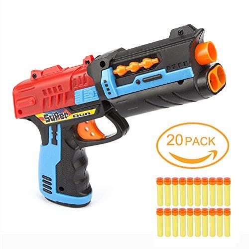 Wish Elite Strongarm Blaster Toy Guns and 20 Foam Darts Bullets with Sucker for Children