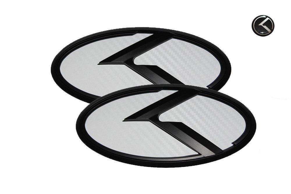 3D K Logo Emblem 3pc SET Fit: KIA 2014-2016 Forte Sedan, K3, Cerato