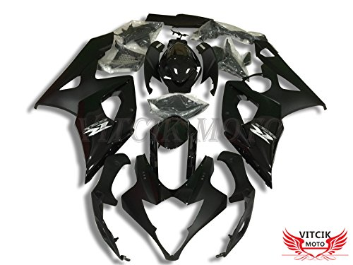 VITCIK (Fairing Kits Fit for Suzuki GSXR1000 K5 2005 2006 GSXR 1000 GSX R1000 K5 05 06) Plastic ABS Injection Mold Complete Motorcycle Body Aftermarket Bodywork Frame (Black) A060