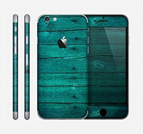 The Bright Emerald Green Wood Planks Skin for the Apple iPhone 6