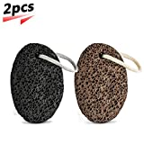 Pumice Stone Natural Lava Earth Foot Callus Remover Pedicure Exfoliation Tool Dry Dead Skin Scrubber for Feet and Hand (2pcs)