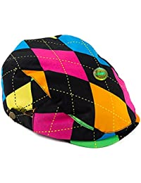 LOCOMO Unisex Kid Argyle Checkered Plaid Tartan Newsboy Flat Cap Hat FBH030s04