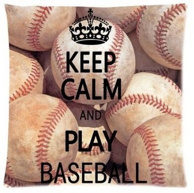 - Unique Style Amazing Personalized Design Keep Calm And Play Baseball Billiards Square Throw Pillow Case Cover 18x18 Inch
