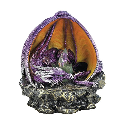 Dragon Crest 10018260 Purple Lounging Dragon with Light Multicolor