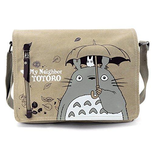 YewNeak Sac bandoulière en toile Motif mignon Mon Voisin Totoro Brown/Grey