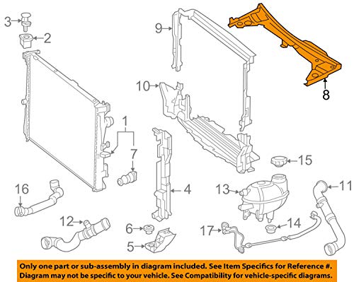 Mercedes Benz Radiator Core Support-Sight Shield Splash Cover Panel 2055000155 by Mercedes Benz (Image #2)