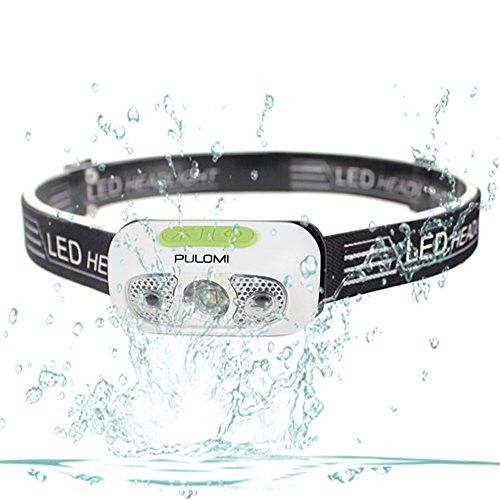 Pulomi Waterproof LED Headlamp USB Rechargeable Headlight Gesture Control Flashlight with Cree XP-G2 LED Adjustable Headband for Outdoor Sport Camping Hiking Climbing Fishing Reading