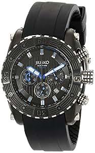 Jiusko Men's 51LB1302 Deep Sea Series Quartz Multifunction Chronograph 200M Black Silicone Diver Watch