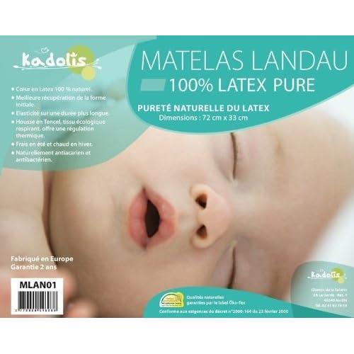 Kadolis Matelas Landau Latex Blanc 60%OFF