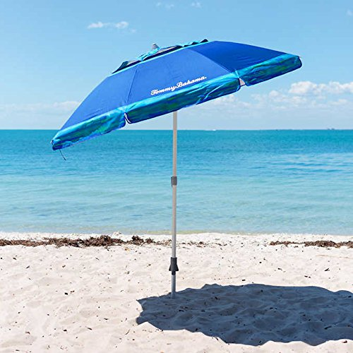 Tommy Bahama 7' Beach Umbrella 2018 Collection - Choose Your Color (Blue) (Original Version) ()
