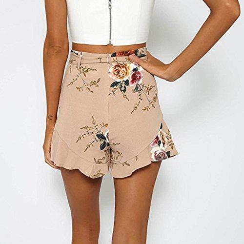 Luoluoluo Corti Donna Gonna Vita Sciolto Tropicale a A Pantaloni Design Sexy Stampa Cintura Donna Donne con Shorts Estivi Pantaloncini Alta rwIXxZ8qr