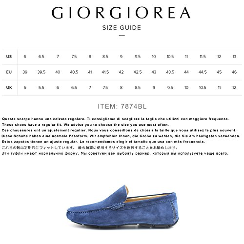 Mano Uomo Scarpe a Giorgio in Fatte Bluette Italia Rea Shoes Eleganti Bluette Mocassini Artigianali Uomo Car fx1p7E