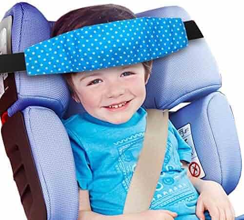 Migavan Baby Car Seat Pillow Head Support Cute Adjustable Soft Travel Headrest