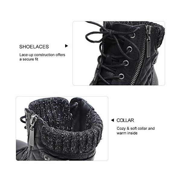 STQ Women's Combat Boots Lace up Ankle Booties