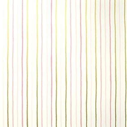 Sancar Wallpaper FLS59634022 Full Stripes Wallpaper /Gold/Off White/Peach/Pink/White/Yellow/Yellow Green - - Amazon.com