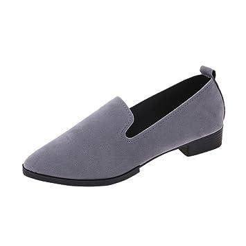 Mocasines mujer , ❤️Amlaiworld Sandalias planas de mujer Mocasines de moda sólida Calzado Zapatos al aire libre zapatillas Mujer Bailarinas (gris, ...