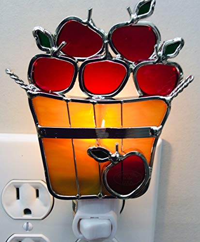 Apple Basket Stained Glass Night ()