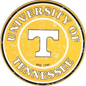 Tennessee Vols 12 Inch Embossed Metal Nostalgia Circular Sign