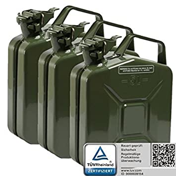 Kanister Kanister Benzin 10/Liter f/ür Transport Kraftstoff Diesel /Öl E-gepr