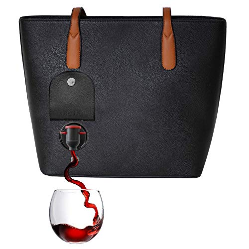 PortoVino Wine Purse Black