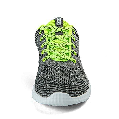 Unisex Grün Laufschuhe Turnschuhe Turnschuhe Sneakers Freizeitschuhe Sportschuhe Damen Grau Erwachsene Herren BRKVALIT FnOaO