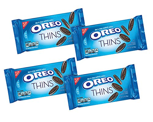 Oreo Thins Chocolate Sandwich Cookies (10.1-Ounce Packages, 4-Pack) (American Oreos Cookies)