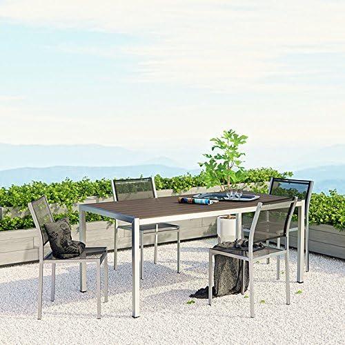 Nuu Garden 42 Inch Outdoor Round Patio Table Cast Aluminum Outdoor Furniture Set for 4,Antique Bronze CT003