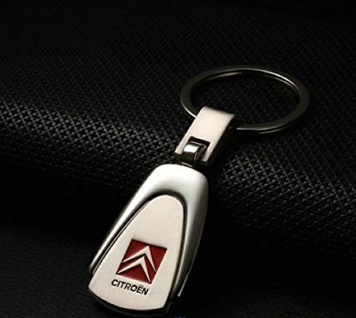 Citroen PearShaped Deluxe Stainless Steel Logo Keyring with Box