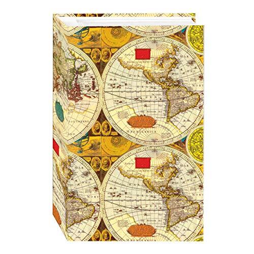 New Designer Scrapbook Album - 3-Ring Photo Album 504 Pockets Hold 4x6 Photos, Ancient World Map Design