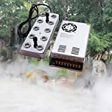 TOPCHANCES 110V 10 Head Ultrasonic Mist Maker Fogger Air-Cooled with Waterproof Transformer