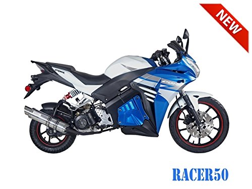 SmartDealsNow 49cc Sports Bike Racer50 Automatic Bike Racer 50 Motorcycle by TAO (Image #4)