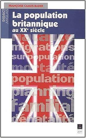 Téléchargement La population britannique au XXème siècle pdf epub