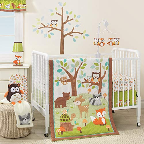 Bedtime Originals Friendly woodlands Woodland, 3 Piece Bedding Set, Green/Brown