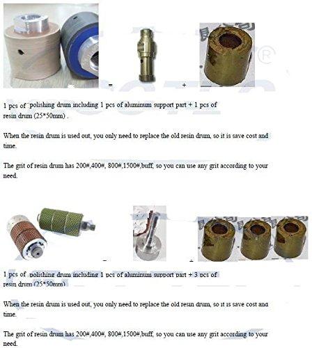 GOWE Diamond resin bonded polishing drum wheels  3 pcs of 35*50mm polish resin drum 1