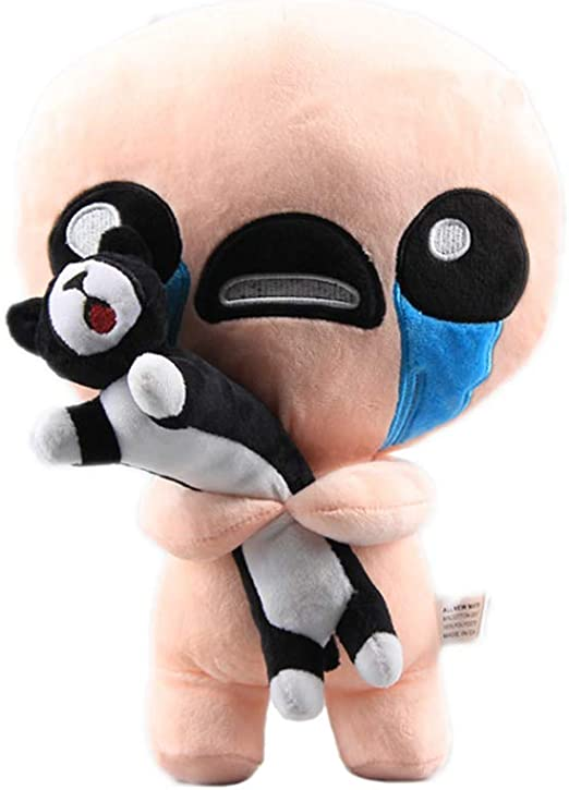 WYMDDYM The Binding of Isaac Plush Toy Isaac Soft Stuffed Animals Plush Toys for Children Gifts (Isaac Hold Cat)