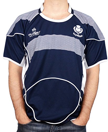 iLuv Rugby Shirt Scotland Crew Neck Half Sleeve option X Large