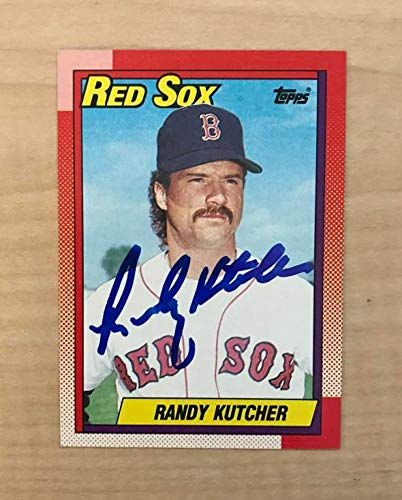 RANDY KUTCHER BOSTON RED SOX SIGNED AUTOGRAPHED 1990 TOPPS CARD #676 W/COA