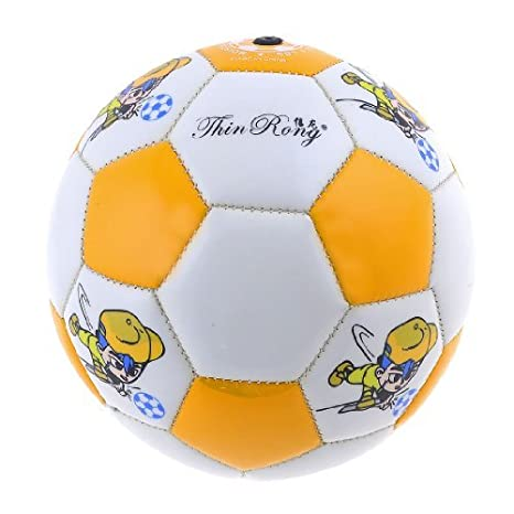 Kids Beige Naranja Inflar PVC fútbol Playa fútbol de Juguete 16cm ...
