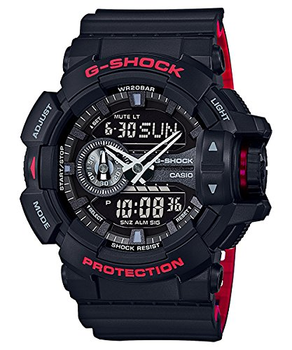 G Shock GA 400HR Black Red Layer